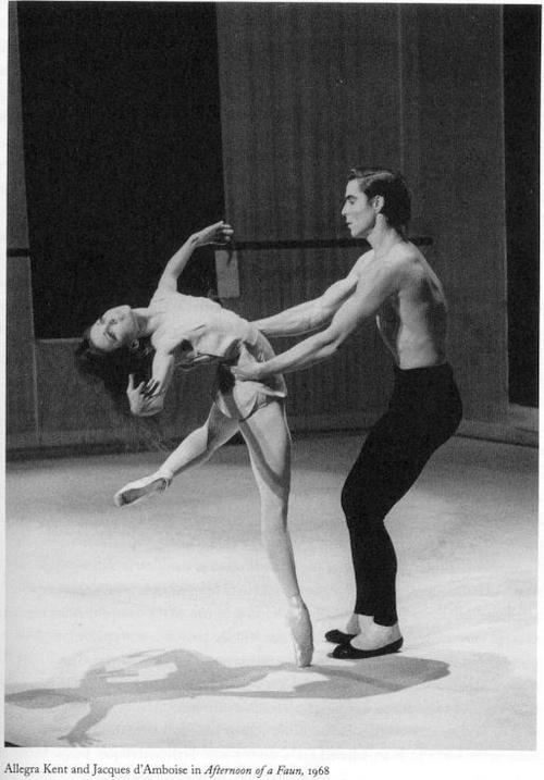 "Jacques D'ambroise in ""After of the Faun' , with the lovely Allegra Kent"